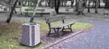 betonowy kosz na śmieci