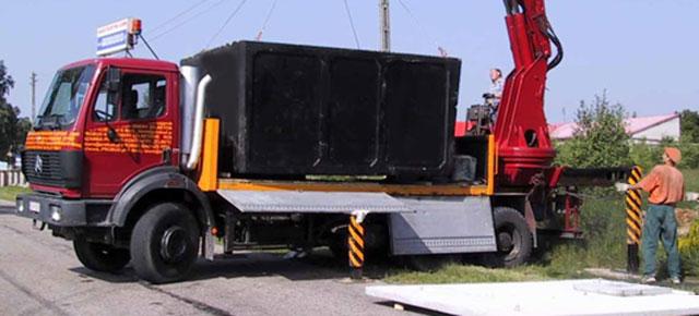 dostawa szamba betonowego