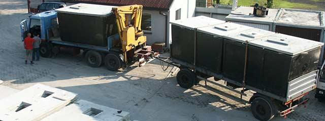 transport szamb betonowych