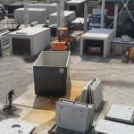 Widok z góry na nowe wyroby betonowe
