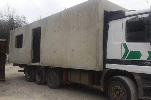 transport kontenera mieszkalnego