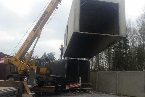 rozformowywanie kontenera betonowego
