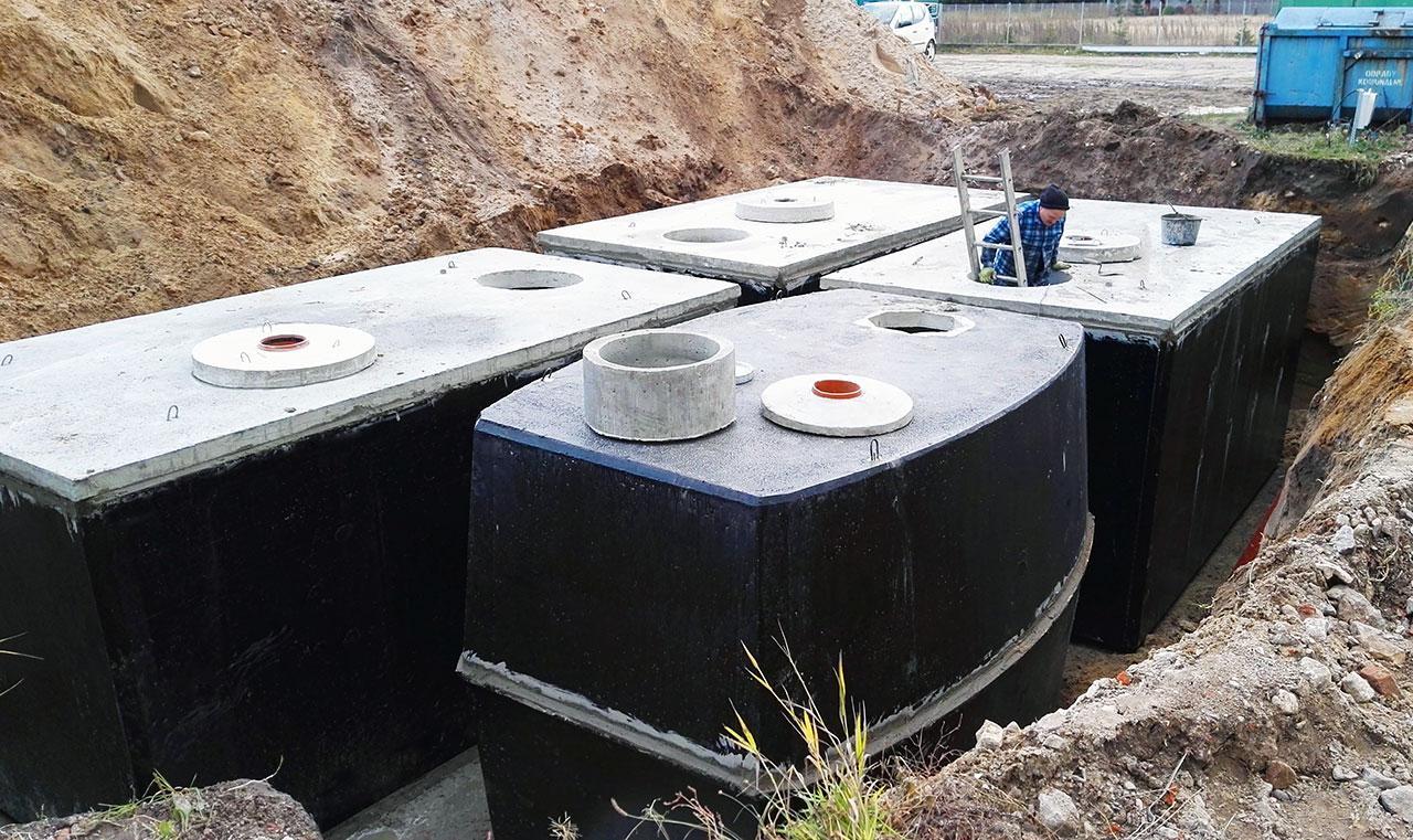 Zbiorniki retencyjne, przeciwpożarowe, na gnojowicę, ścieki przemysłowe.